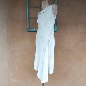 Asymmetrical Off White Thierry Mugler Dress SZ S